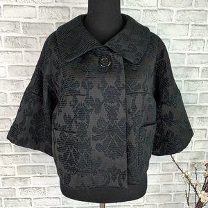 Nine West Brocade Floral Vintage Style Crop Jacket
